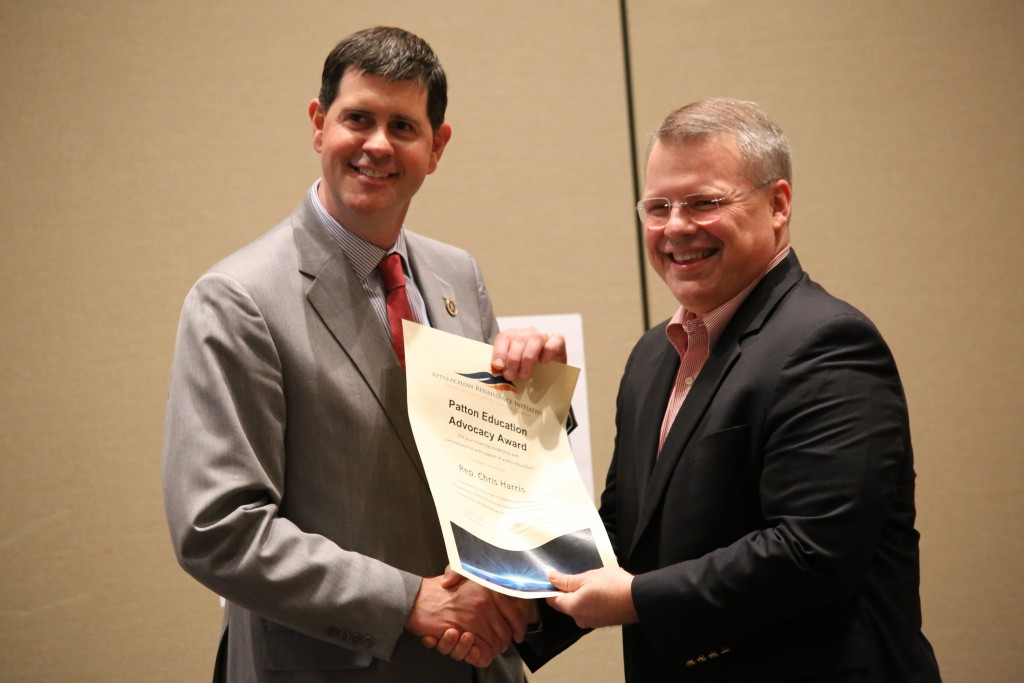 Rep. Chris Harris (HD-93) & Owsley County Superintendent Tim Bobrowski