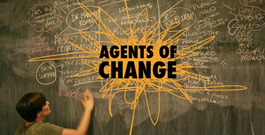teacher as an agent of change And, once an organization finds the right individual to be its change agent for a project, management has one more commitment to make - assuring the change agent has between 50 and 100 percent of their work time available to dedicate to the success of the initiative.