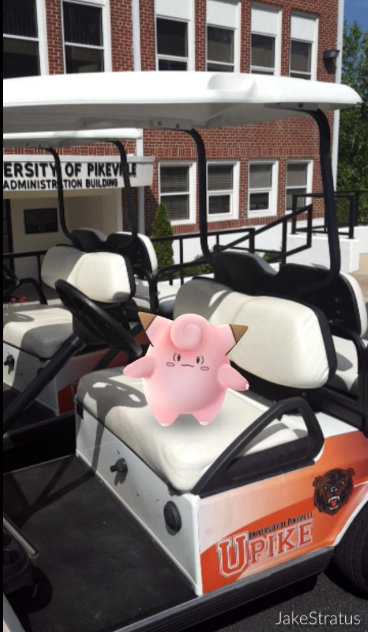 A Clefairy hanging out on the UPIKE campus
