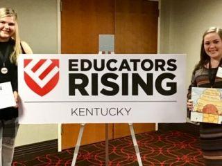 Student Senate Future Educators Authors thrid place in State