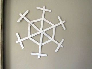 small popsicle stick snowflake